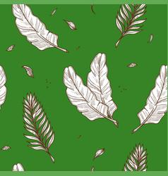 tropical palm leaf seamless pattern sketch vector image