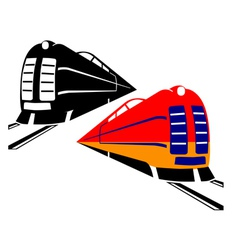 Two trains vector