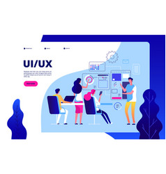 Ui ux landing page best user experience vector