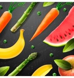 Vegetarian food pattern vector