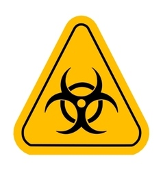 Warning icon in yellow triangle Biohazard toxic vector