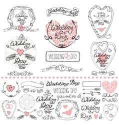 wedding decor elements setlabelscards vector image