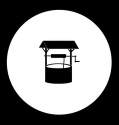Well for water simple silhouette black icon eps10 vector