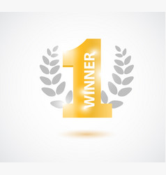winner number one background with olive branch vector image
