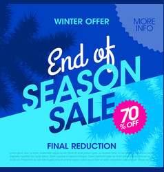 Winter offer end of season sale banner vector