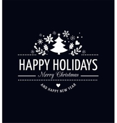 Christmas Background With Typography vector image