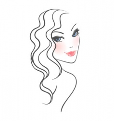 curly hair vector image