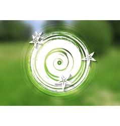 Green summer floral background vector image
