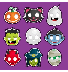 Halloween Head Stickers vector image vector image