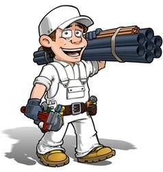 Handyman Plumber Color it Yourself vector image vector image