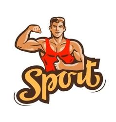 sport logo gym fitness or bodybuilding vector image vector image