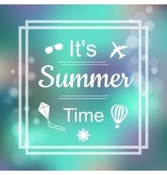 Summer Design Blur Beach Background Summer Time vector image vector image