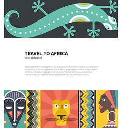 Travel to africa vector image vector image