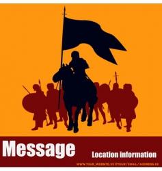 warrior message vector image