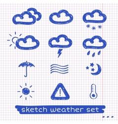Weather sketch set vector image vector image