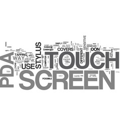 A pda has a touch screen rather than plain screen vector