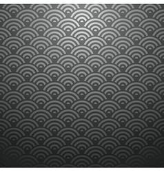 Black Japan seamless pattern vector image