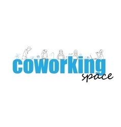 Coworking space text concept vector image vector image