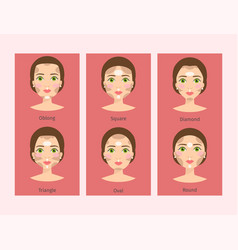 different woman face types vector image