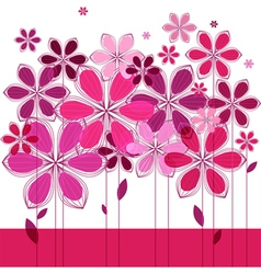greeting card floral composition vector image vector image