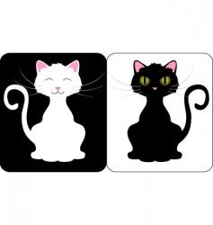 happy cats vector image