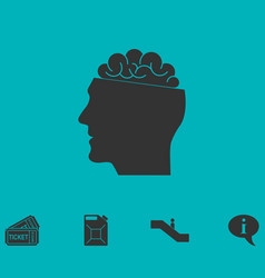 open mind icon flat vector image vector image
