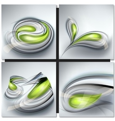 Set of abstract gray backgrounds vector image