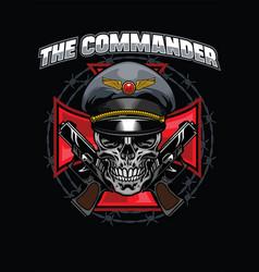 Skull commander design vector