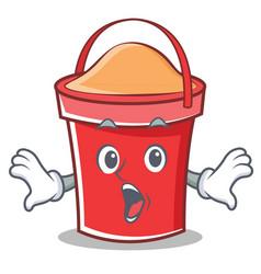 surprised bucket character cartoon style vector image vector image