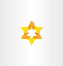 yellow orange star icon sign vector image