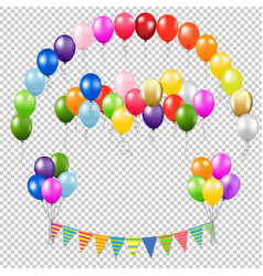 balloons collection vector image vector image