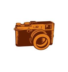 Camera 35mm vintage woodcut vector