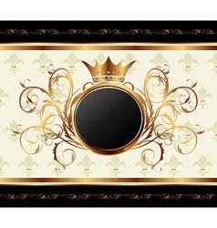 gold invitation frame vector image