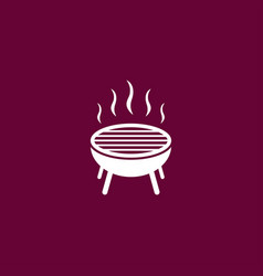 grill icon simple bbq vector image vector image