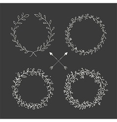 Hand drawn vintage arrows floral elements vector image vector image