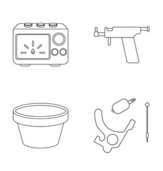 Ink piercing machine and other equipment tattoo vector