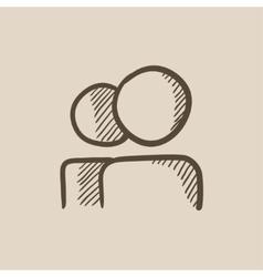 People sketch icon vector image vector image