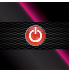 Power red shiny button vector image vector image