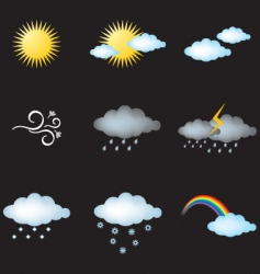 weather vector image vector image