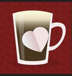 coffee love design vector image