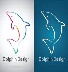 Dolphin Design vector image vector image