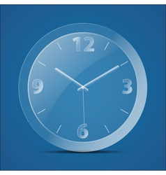 Glass clock vector image