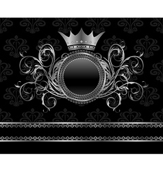 silver vintage frame vector image vector image