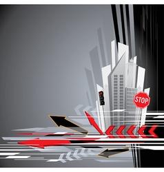 urban city background vector image