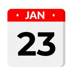 23 january calendar icon vector
