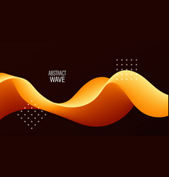 3d wavy abstract background dynamic liquid vector image