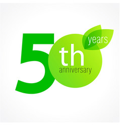 50 anniversary green logo vector