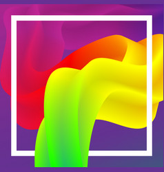 abstract worm colorful rainbow background vector image