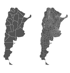 Argentina map with regional division vector