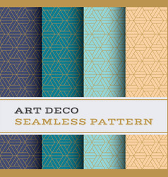 Art deco seamless pattern 48 vector
